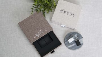 Your box can be ordered with a Crystal USB Drive inside