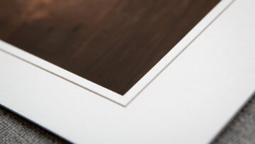 Traditional White Mat with a VGroove Style