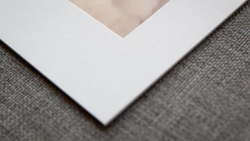 Traditional White Mat with a Plain Style