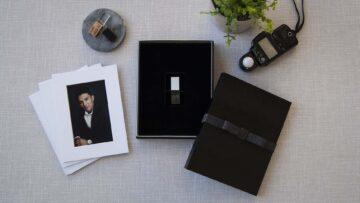 Black Mini Mini Folio-Proof Box with USB Foam Insert