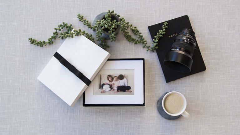 White Mini Folio-Proof Box to suit 6x8 Mats
