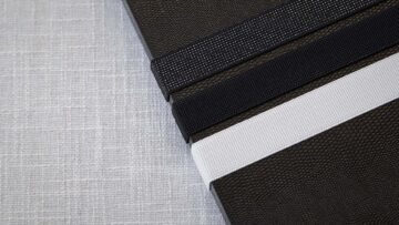 Optional Ribbons available in Black Sparkle, Black and White