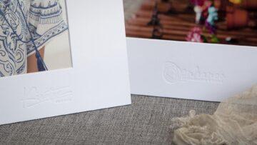 Studio Logos on Standing White Mats
