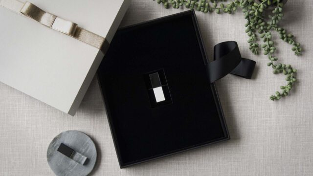 Optional USB Foam Insert within an 8x10 Box