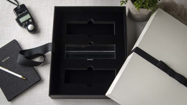 An optional Acrylic Mat Holder Foam Insert for 11x14 Boxes