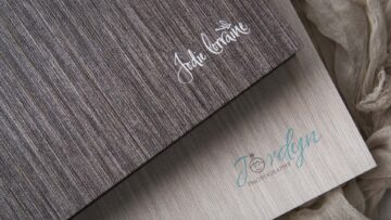 Logo Printing is available on Cocoa Grey and Honey White Portfolio Boxes