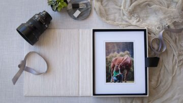 Holds up to 12 matted prints