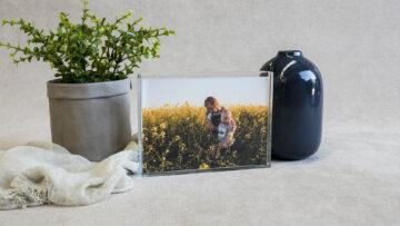 Acrylic Slimline Print Block to hold 4x6 prints