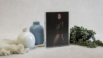 Acrylic Slimline Print Block to hold 5x7 prints