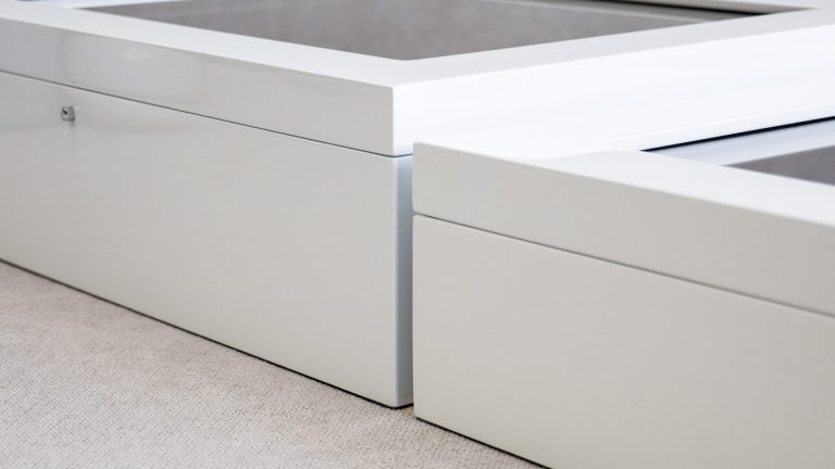 11x14 White Signature Boxes are available in 2 depths to hold up to 20 or 25 Mats